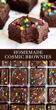 Cosmic Brownies, Fudge Brownies, Baking Brownies, Frosted Brownies, Yummy Treats, Sweet Treats, Yummy Food, Tasty, Dessert Bars