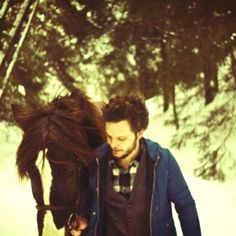 Tallest Man On Earth (aka Kristian Matsson) with a horse