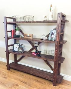 Learn how to build a DIY bookshelf inspired by Anthropologie with a few supplies from the hardware store. Free building plans by Jen Woodhouse. >>> Read more at the image link. #HomeImprovement Projects