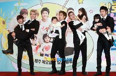 Hello Baby with MBLAQ - Mblaq as daddies of 3 kids.  The kids were too cute!