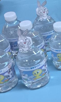 Water bottle labels for Looney Tunes theme. Baby Bugs being the main character.