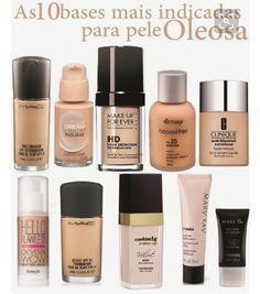 Bases para pele oleosa #maquiagem #maquiagens