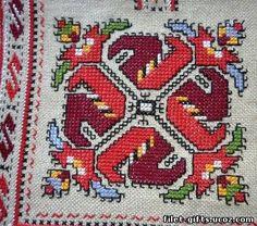 bulgarian model embroidery design - Google Search Cross Stitch Borders, Cross Stitching, Cross Stitch Patterns, Embroidery Motifs, Cross Stitch Embroidery, Embroidery Designs, Vintage Cross Stitches, Chart Design, Native American Beading