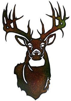 This Metal Deer Head is made with precision laser technology for a truly unique look. The brown and black splattered paint provides a rustic feel. This is a great gift idea for anyone who loves to hun #deerstands