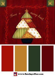 Christmas Color Palette: Merry Heart, Art Print by Becca Barton