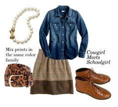 the preppy leopard - cowgirl schoolgirl