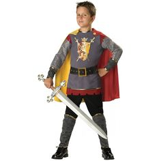 Loyal Knight Costume Kids Medieval Halloween Fancy Dress