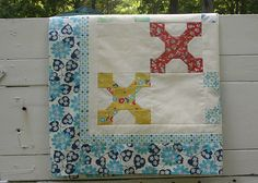 Vanilla & Blooms - quilt top folded