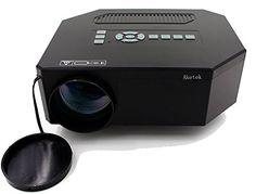 "Aketek UC30 100"" 150 Lumens HDMI Portable Mini LED Projector Home Cinema Theater AV/VGA/USB/SD/Micro USB-Black"