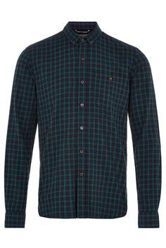 Hymn Vaynor Navy & Green Check Shirt