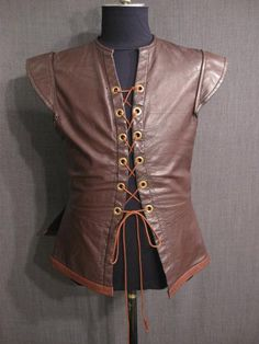 09006794 Doublet Mens Renaissance brown leather C42 44.JPG
