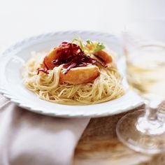 Lobster Capellini with Leek-Tarragon Cream Sauce Recipe - Alexandra Angle | Food & Wine