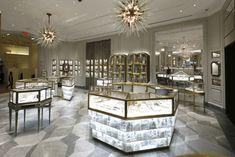 Bergdorf Goodman Unveils Updated Jewelry Salons Inside the Bergdorf Goodman Jewelry Salon. Boutique Interior, Shop Interior Design, Retail Design, Jewelry Store Design, Jewelry Shop, Jewelry Stores, Walmart Jewelry, Vintage Clothing Styles, Jewellery Showroom