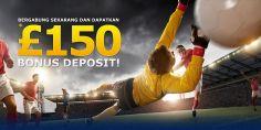 Daftar Sekarang Juga dan Raih Bonus Deposit Hingga £150   SBOBET Promo