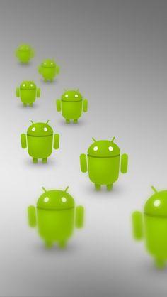 640x1136 Обои android, операционная система, роботы, много