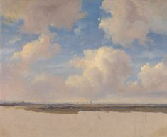 Landscape with Cumulus Clouds  about 1839, Andreas Schelfhout
