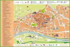 Trento tourist map Tourist Map, Green Sapphire, Italy, Maps, Italia, Map, Peta, Cards