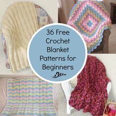 36 Free Crochet Blanket Patterns for Beginners | FaveCrafts.com