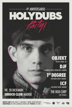 Holydubs 4th anniversary with Objekt heading the lineup.