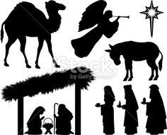 There are some nice Nativity Silhouettes on this page.