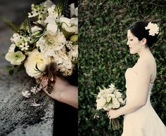 I am COMPLETELY in LOVE with this bouquet (by Garden on the Square)! This girl had an amazing chic, but still laid-back, looking wedding. Beautiful!