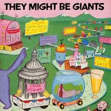 They Might Be Giants,cover by Rodney Alan Greenblat, born August 23, 1960 in San Francisco.He is an American graphic artist known best in the United States for the visual style of the computer games PaRappa the Rapper and UmJammer Lammy, and in Japan for his comic Thunder Bunny.