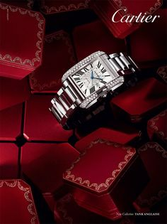 Favorite... Anglaise advertising, Large, REF: WT100010TANK, AUTOMATIC, WHITE GOLD, DIAMONDS.