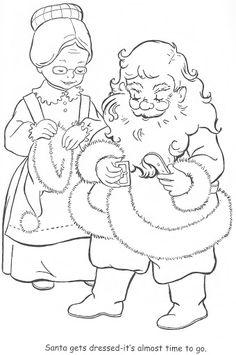 Coloring Book~Little Miss Christmas and Santa - Bonnie Jones - Picasa Albums Web