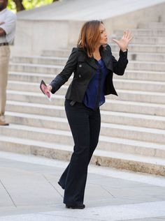 Mariska Hargitay on the set (: