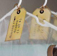Vintage Labels + Linen Storage
