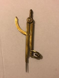 #Antique caliper compass divider old #drawing #engineering brass tool, View more on the LINK: http://www.zeppy.io/product/gb/2/222397374324/