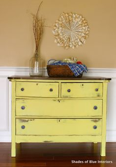 Annie Sloan English Yellow and White 1:1