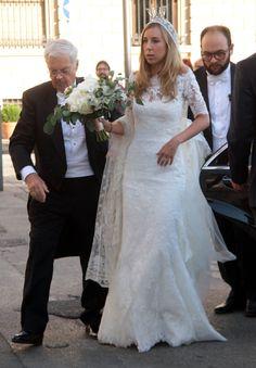 King Carl Gustaf, Queen Silvia and Crown Princess Victoria attended the wedding of Astrid Bernadotte and italian aristocrat Filippo Bruti Liberati in Florence