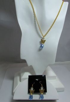 Gold and Crystal Angel Pendant sets