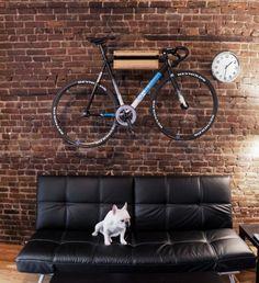 Simple bike storage.