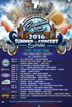 Daytona Beach Bandshell Live Summer Concert Series ~ 2016   Flagler County Family Fun