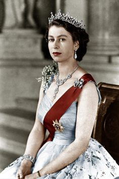 Queen Elizabeth II, official portrait in February 1952