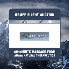 Why not treat yourself by bidding on 60-minute massages from Amaya Natural Therapeutics at the #BMFF silent auction tomorrow?