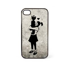 Banksy Girl with Bomb iPhone Case