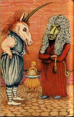 """Детская Книга - Иллюстрации из книги """"Алиса в стране чудес"""""""