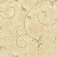 York Wallcoverings Leaf Vine Scroll Wallpaper