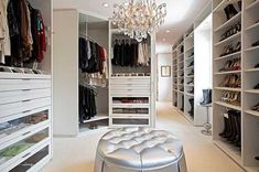 The best of luxury closet design in a selection curated by Boca do Lobo to inspire interior designers looking to finish their projects. Discover unique walk-in closet setups by the best furniture makers out there. Master Closet Design, Walk In Closet Design, Wardrobe Design, Closet Designs, Master Suite, Master Bedrooms, Walking Closet, Closet Bedroom, Closet Space