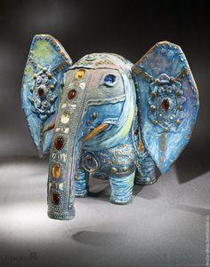 Статуэтки ручной работы. Ярмарка Мастеров - ручная работа. Купить Слон-весельчак. Handmade. Слон, статуэтка ручной работы, стекло
