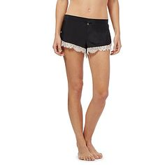 b by ted baker black lace trim pyjama shorts debenhams - Belle Color Acajou
