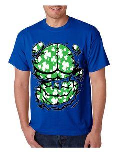 Men's T Shirt Irish Body Shamrock St Patrick's Day Tee Shirt