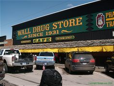 Wall Drug, Black Hills, SD- My favorite part of traveling across the country. I ALWAYS stop. and usually spend half a day there, at least!