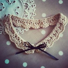 Whimsical Crochet Collar / Necklace Handmade in by AnnaboosHouse, £7.50