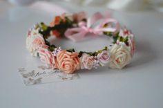 Madame Allure - Piękny pastelowy wianuszek  Madame Allure - internetowy butik ślubny