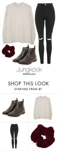 """""""Vintage Shopping with Jungkook"""" by btsoutfits ❤ liked on Polyvore featuring Boohoo, MANGO, Topshop, Miss Selfridge and vintage"""