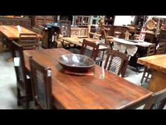 Solid wood dining tables San Diego Rustic. New, Antique + Recycled